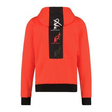 Australian sportswear zip hoodie tape logo   lava