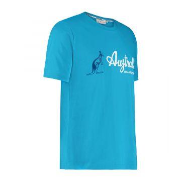 Australian sportswear T-shirt basic logo 605 | aqua