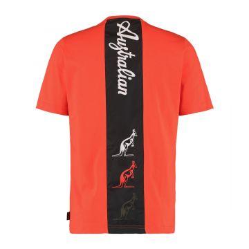 Australian sportswear T-shirt tape logo | lava
