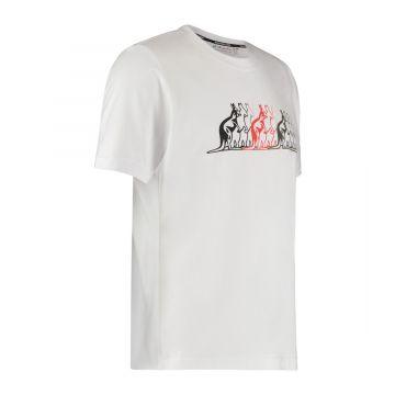 Australian sportswear T-shirt kangaroos   wit