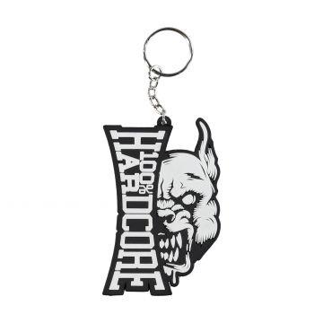 100% Hardcore schlüsselbund branding rage | schwarz und weiß