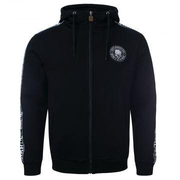 100% Hardcore zip hoodie met mouwen bies ILLNESS