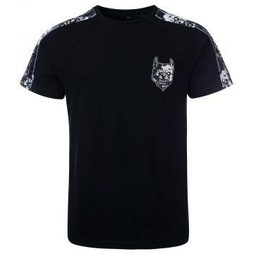 100% Hardcore T-shirt met schouder bies RAGE