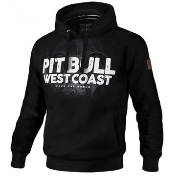 Pit Bull hooded sweater Fuck the world 18   zwart