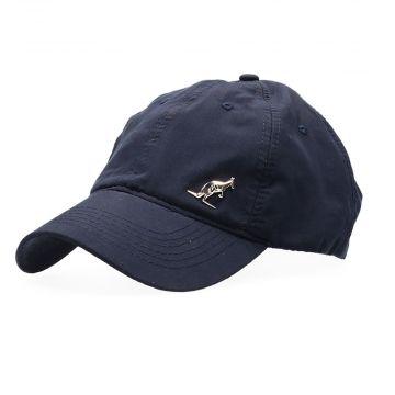 Australian Kappe mit silbernem Logo und Stickerei | navy blau