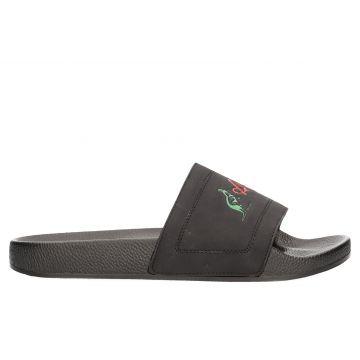 Australian slippers   logo traditioneel X zwart