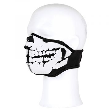 Gezichtsmasker neopreen skull 3D | zwart / wit