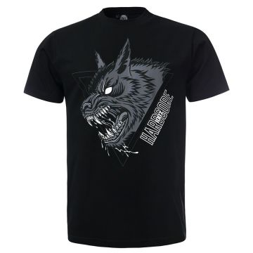 100% Hardcore T-shirt LUPO | zwart