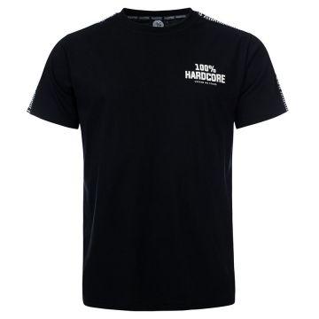 100% Hardcore T-Shirt mit Schulterstreifen UNITED SPORT | schwarz