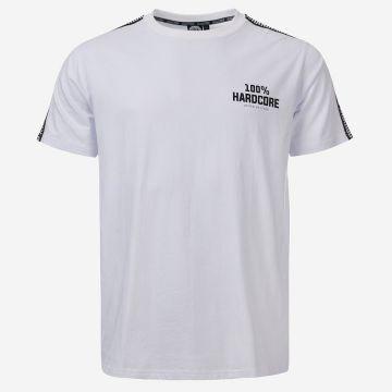 100% Hardcore T-Shirt mit Schulterstreifen UNITED SPORT | Weiß