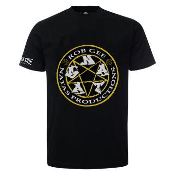 100% Hardcore ft Rob Gee T-shirt logo | zwart