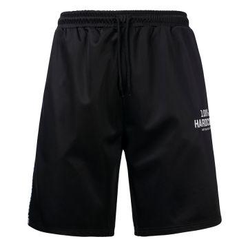 100% Hardcore korte broek met bies UNITED SPORT | zwart