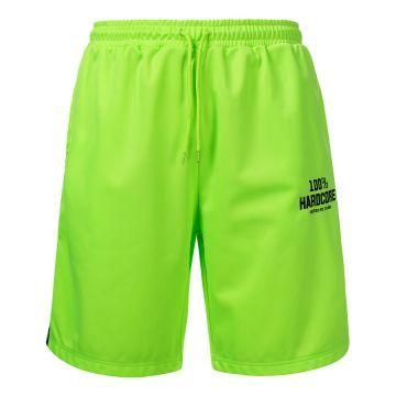 100% Hardcore korte broek met bies UNITED SPORT | neon groen