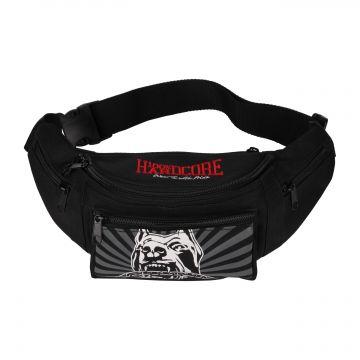 100% Hardcore Gürteltasche barking dog | schwarz