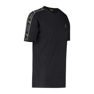 Australian T-shirt met zwarte schouder bies   zwart