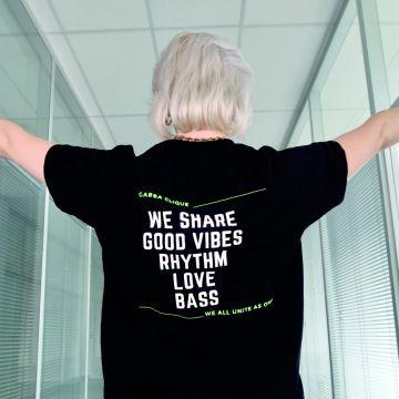 Gabba Clique T-shirt bass groen   zwart
