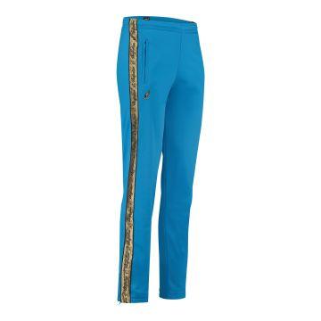 Australian broek met 2 ritsen en gouden bies 2.0 | capri blauw
