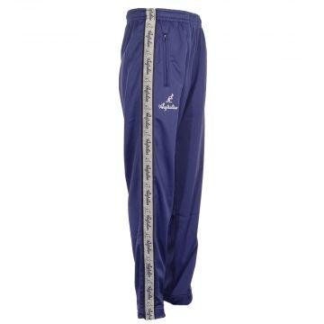 Australian broek met zilveren bies en 2 ritsen   cosmo blauw