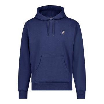 Australian hooded sweater met verticale zwarte bies 2.0 op de rug | cosmo blauw