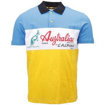 Australian polo   blauw - geel