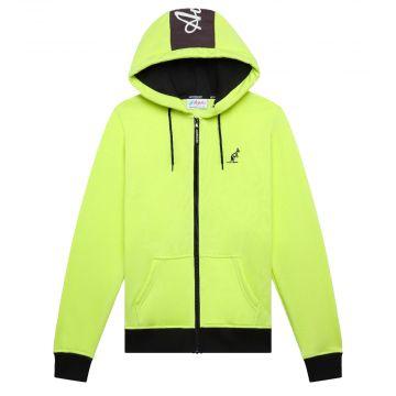 Australian sportswear zip hoodie fleece logo   limoen