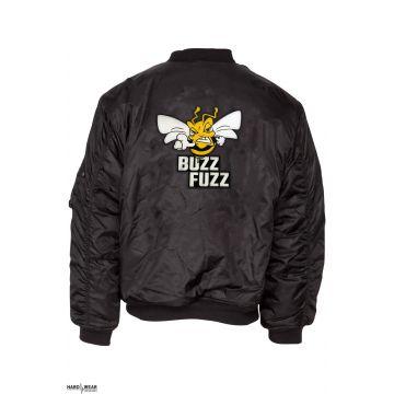 Buzz Fuzz (EXCLUSIEF) bomberjack geborduurd logo | zwart