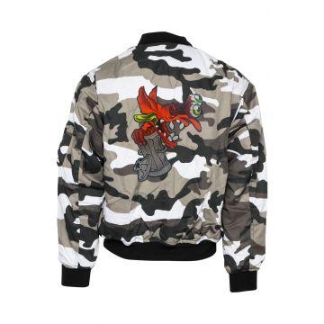 BZRK (EXCLUSIEF) bomberjack geborduurd logo | camouflage