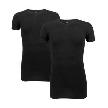 Cavello t-shirts 2-pack | v-neck x zwart