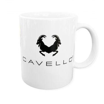 Cavello mok met logo | wit