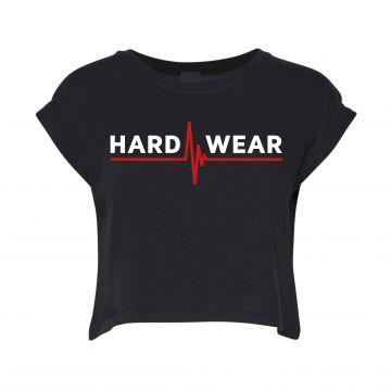 Hard-Wear croptop logo | zwart
