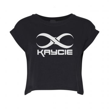 Kaycie croptop logo   zwart