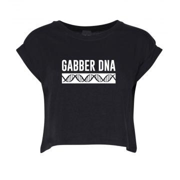Hard-Wear Dames Croptop DNA | zwart