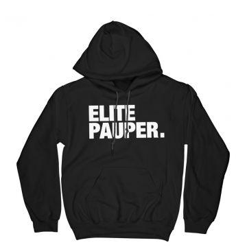 Elitepauper hoodie met steekzak | logo X zwart