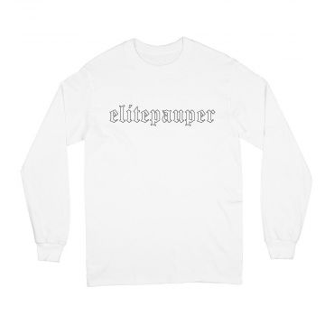 Elitepauper longsleeve goth logo | wit