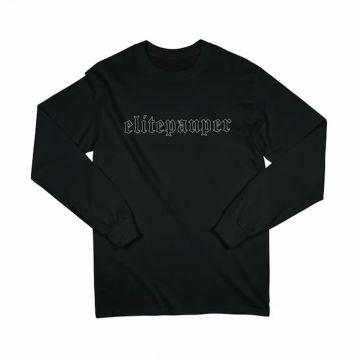 Elitepauper longsleeve goth logo | zwart