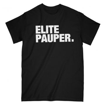 Elitepauper t-shirt | logo X zwart