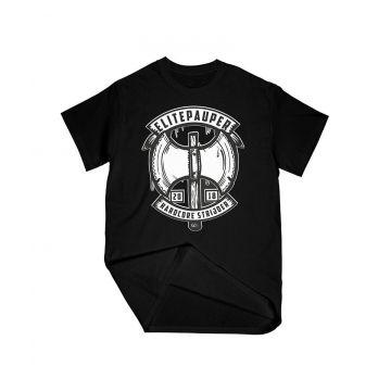 Elitepauper T-shirt strijder | zwart