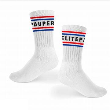 Elitepauper sportsokken | rood, wit en blauw