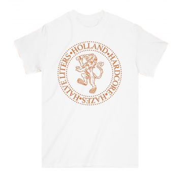 Elitepauper T-shirt Holland, Hardcore, Hazes & Halve liters | wit