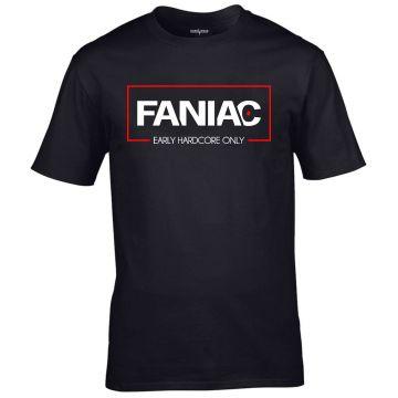 Faniac T-shirt Early Hardcore Only | zwart