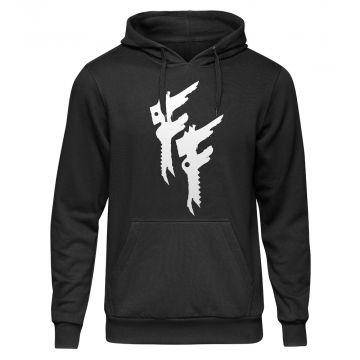 Frantic Freak Hooded Sweater Logo | zwart