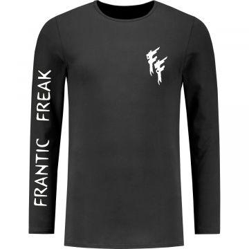 Frantic Freak Longsleeve Logo Mouw | zwart