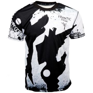 Frantic Freak Soccer Shirt Full Print | zwart - wit