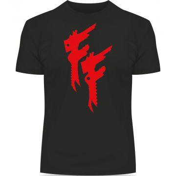 Frantic Freak t-shirt met rood logo | zwart