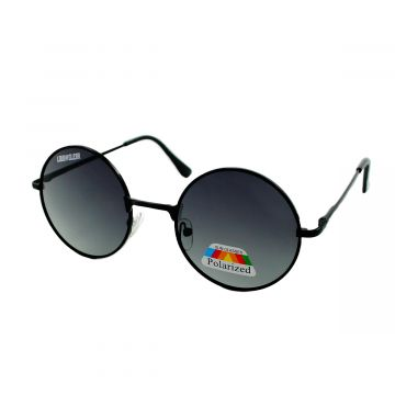 Loud and Clear ronde zonnebril gepolariseerd | zwart glas
