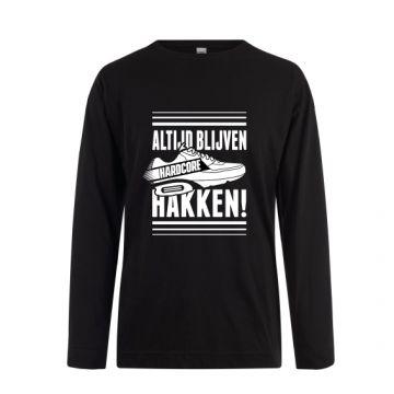 Hard-Wear Longsleeve ALTIJD BLIJVEN HAKKEN! | zwart