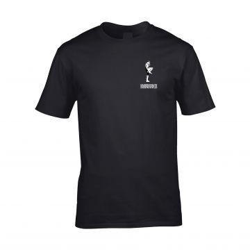 HakkuhVideos T-shirt gabber aan de voor- en achterkant   zwart