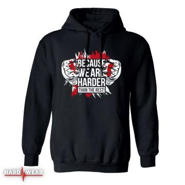 Hard-Wear Hardcore hoodie zonder rits   because we are harder!