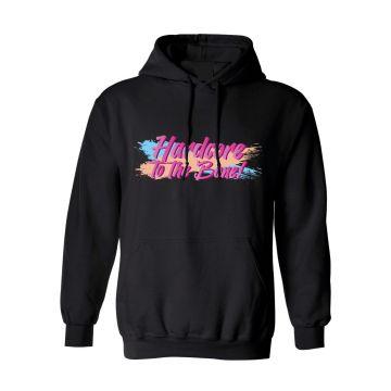 Hard-Wear x Graffiti Hooded Sweater Hardcore to the bone | zwart