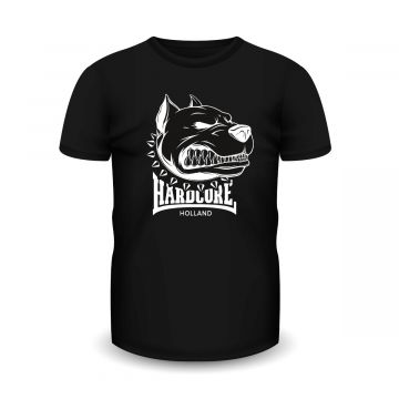 Hardcore Holland T-shirt dog | zwart